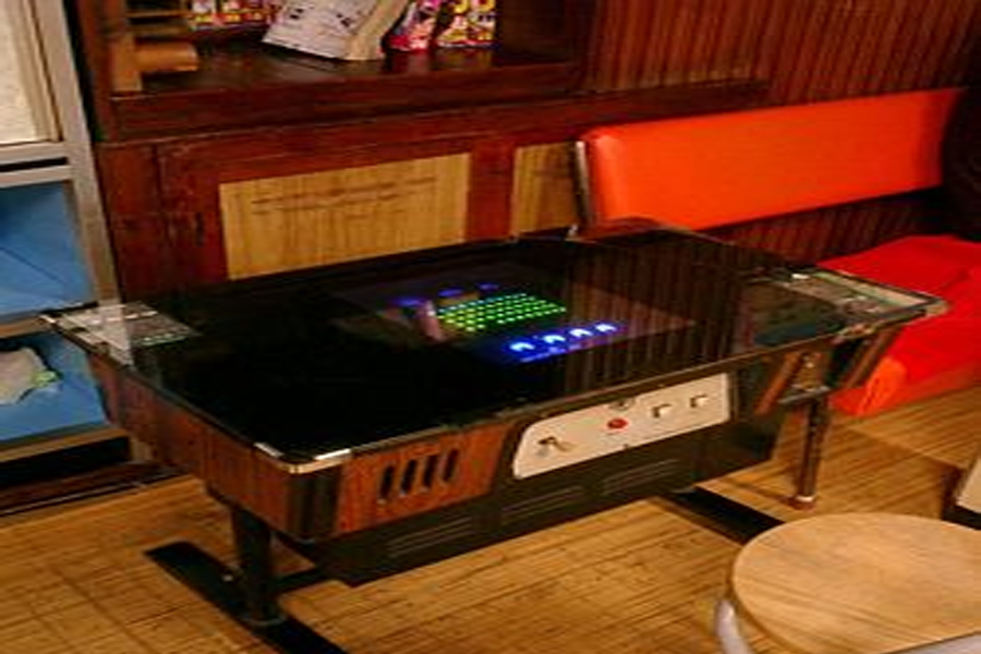 table jeux video arcade table de lit a roulettes. Black Bedroom Furniture Sets. Home Design Ideas