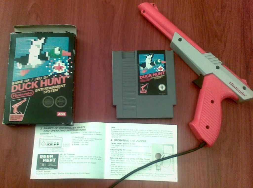 Le jeu Duck Hunt et le Nes Zapper